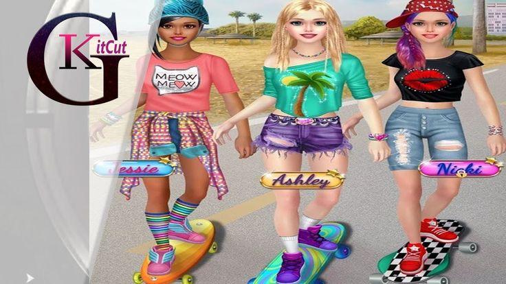 Skater Girl Dress Up For kids | Amazing Makeover Game (Spa, Makeup, Salon)