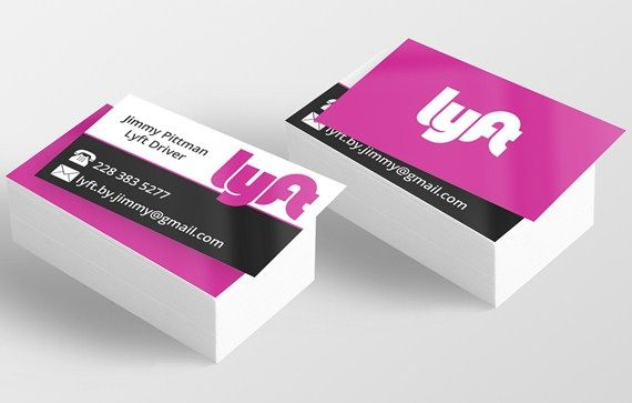 Get Our Example Of Free Uber Business Card Template Lyft Business Cards Business Card Template Card Template