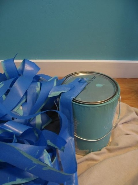 Benjamin Moore - peacock blue - warm, not too bright, sort of manly...  hubby might go for it!