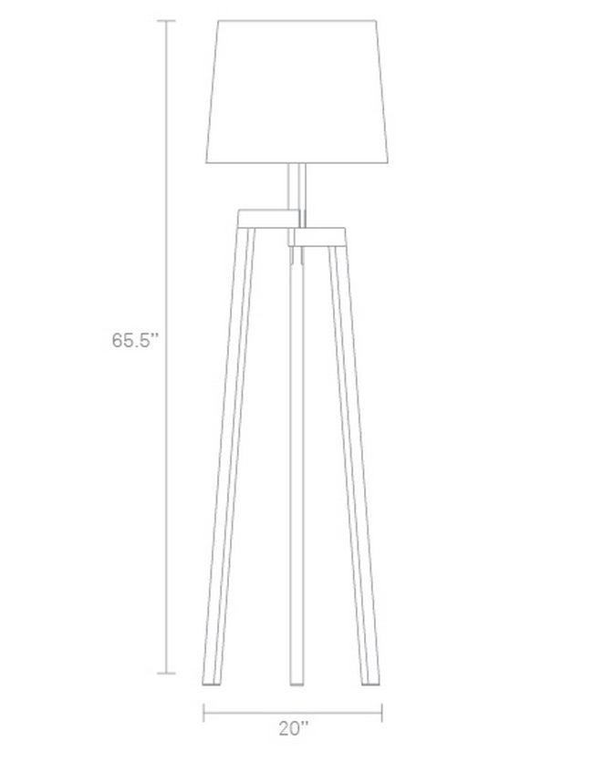 Designer Wooden Floor Lamp Dimensions