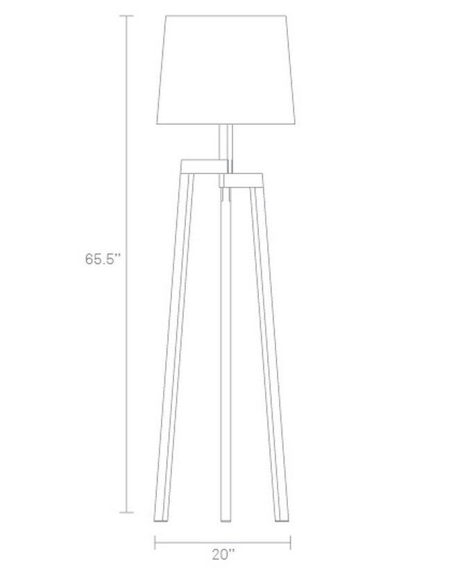 Designer Wooden Floor Lamp Dimensions