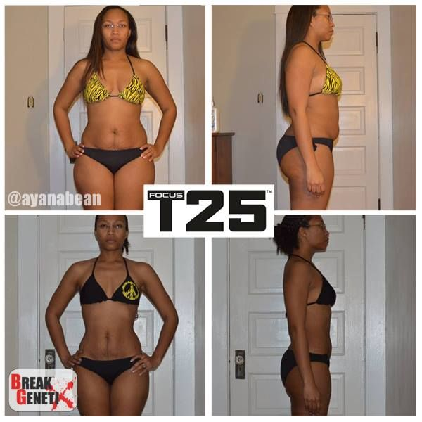 Ayana B lost 32 lbs doing Focus T 25!