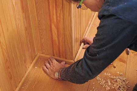 How to Install Beadboard Wainscoting...Follow step-by-step as This Old House's Tom Silva installs a Victorian-era enhancement.