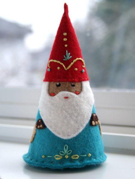 Felt Gnome by Indigomouse, via Flickr