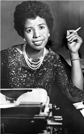 Famous African Americans In History | African American author and playwright lorraine Hansberry
