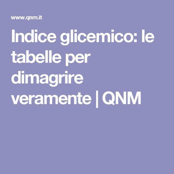 Indice glicemico: le tabelle per dimagrire veramente | QNM