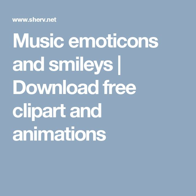 Music emoticons and smileys | Download free clipart and animations