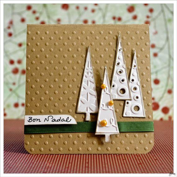 tarjeta navidea caprichos de papel artesanio