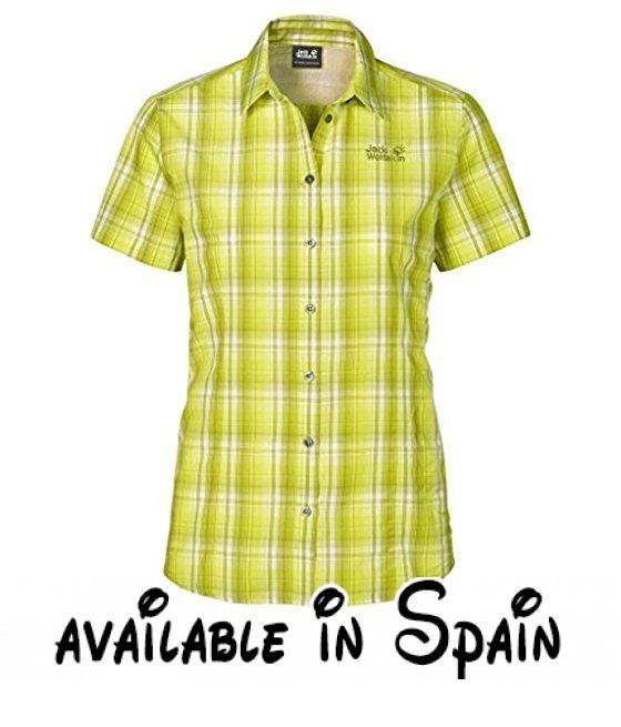Jack Wolfskin Mujer Función Camisa, verde claro, XL. Quick Moisture equipo. De secado rápido y transpirable. Vent Support canales para ventilación. 1bolsillo con cremallera #Deportes #OUTDOOR_RECREATION_PRODUCT