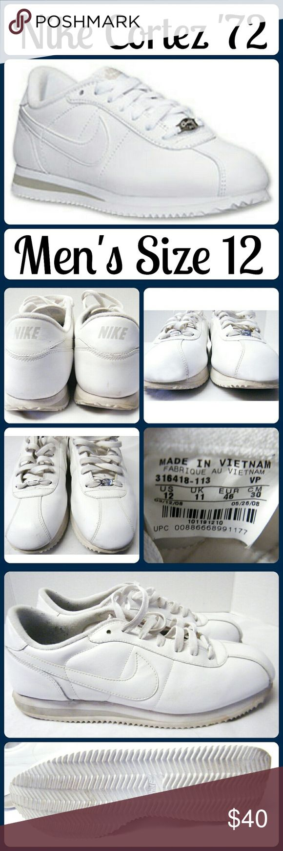 Nike Cortez '72 Tennis Shoes Excellent New Like Condition! Sz 12 Men, worn 1 time - less than 5k steps (according to a fitbit) Nike Shoes Athletic Shoes