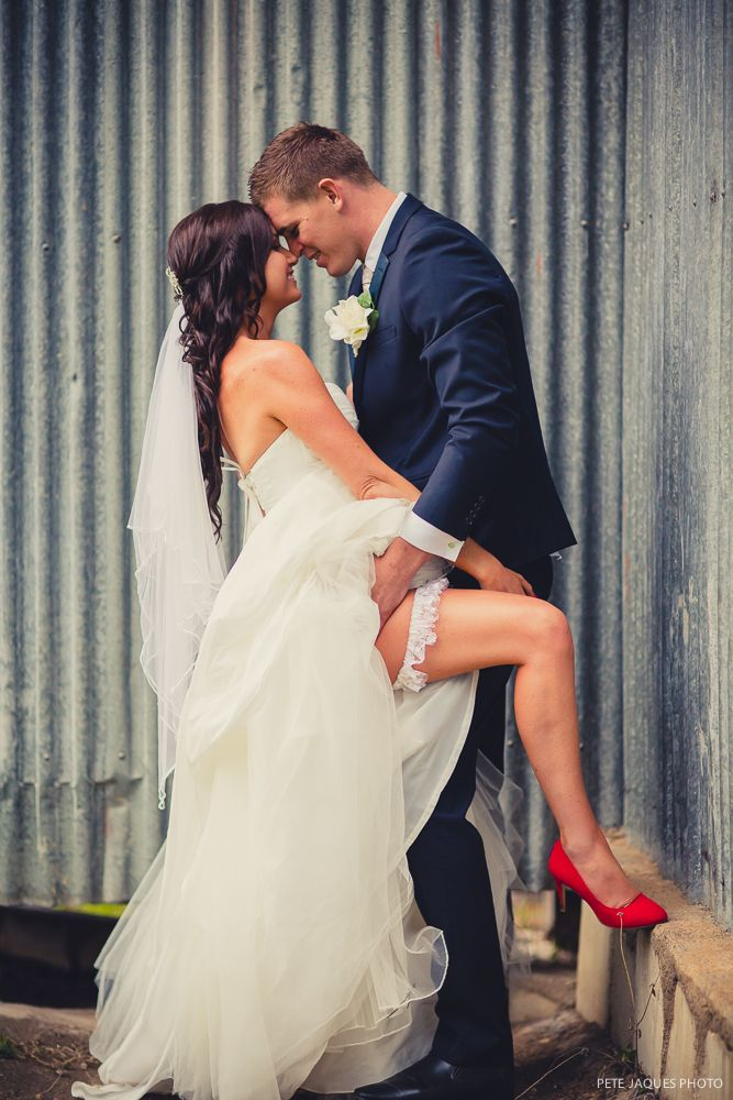 Sexy Wedding Photo Red Shoes