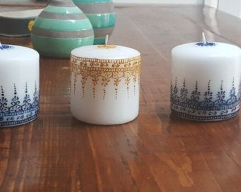 Henna Unity Candle Unity Candle Henna Candles by HennaByAanchal
