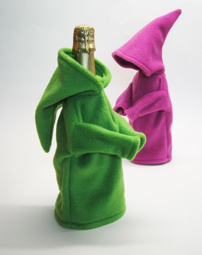 These bottle covers made us chuckle - and think of The Lord of he Rings, elfin as they are!