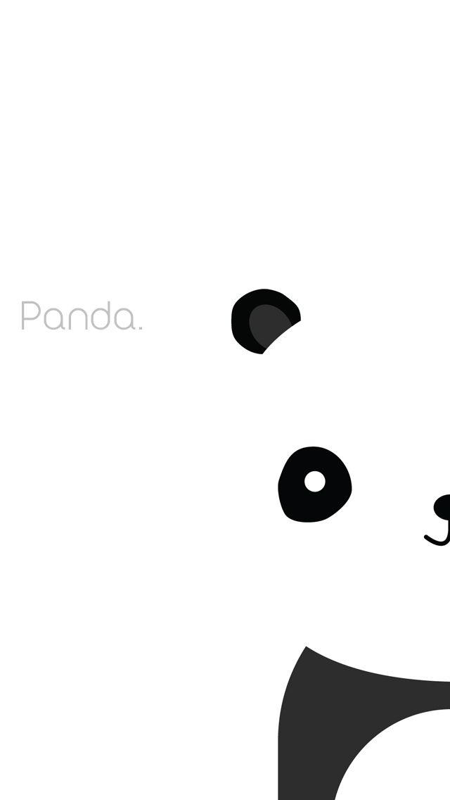 Simple Panda iPhone Background