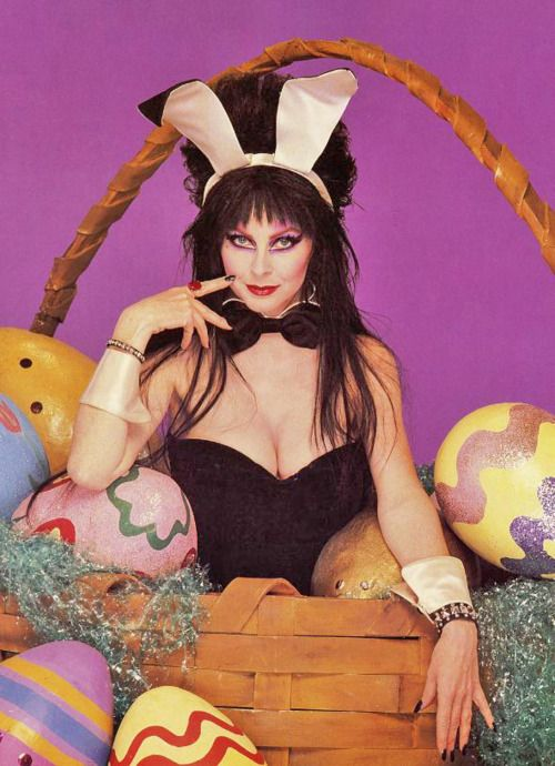 Elvira Easter!: Elvira Easter, Cassandra Peterson, Ears Pin, Easter Bunnies, Dark Black, Easter Baskets, Elvira Mistress, Beautiful People, Happy Easter
