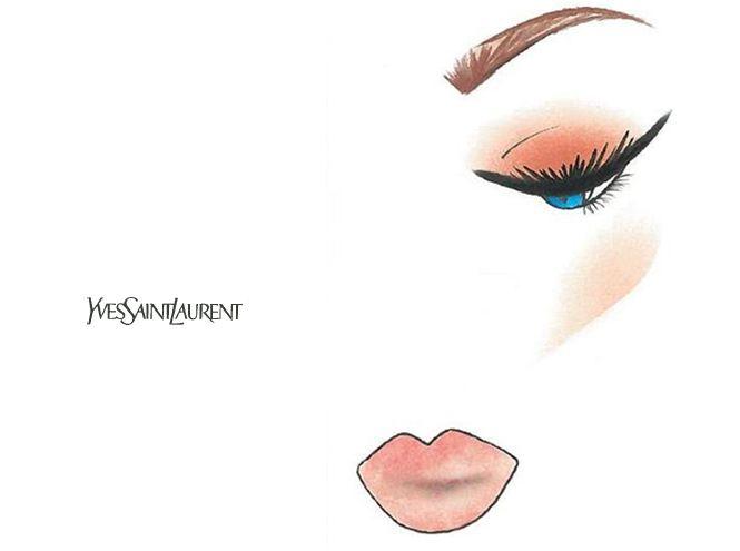 Праздничный макияж по цвету глаз от визажиста YSL | Marie Claire  3. Голубые глаза: стрелки и нейтральные губы