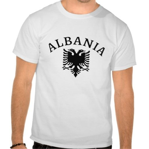 Albania with the eagle of the flag - tshirt - Albania - Shqiperia - #bluze - Fully customizable - add your own text if you want - Mund te shtoni tekst sipas deshires. - #shqiptar #shqiperia #tshirt #shqiptare