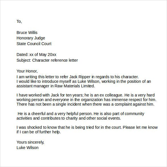 Best 25+ Letter to judge ideas on Pinterest Superlatifs senior - recommendation letter for coworker