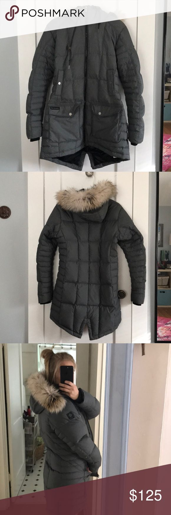 Columbia Outdoor Winter Jacket, size large BARELY WORN! Bought last year. Size large Columbia winter jacket. Inside with Omni-Heat sure to keep you warm! 4 outside pockets, one inside. Columbia Jackets & Coats Puffers