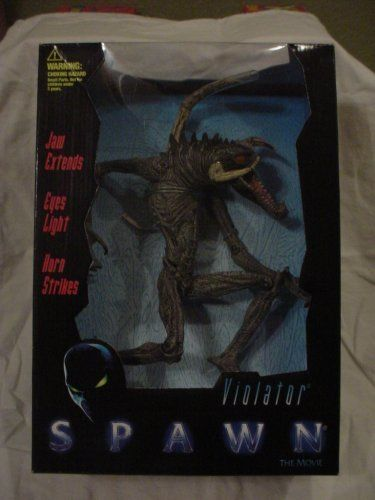 1997 - McFarlane Toys - Spawn the Movie - Violator Ultra-Action Figure - Deluxe Boxed Edition - Jaws Extend / Eyes Light / Horn Strikes - New - Limited Edition - Collectible by McFarlane Toys. $19.95. New - Mint - Rare - Limited Edition - Collectible. Deluxe Boxed Edition - Out of Production. 1997 - McFarlane Toys - Spawn the Movie. Violator : Ultra-Action Figure. Jaws Extend / Eyes Light / Horn Strikes. 1997 - McFarlane Toys - Spawn the Movie - Violator Ultra-A...