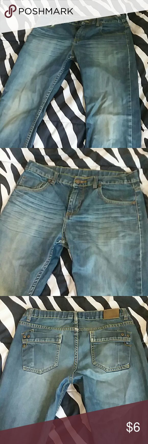 Fly Paper slim straight fit boys  18 Fly Paper boys jeans in Excellent condition. Slim fit. Cute wash. They have elastic option inside the waist. Fly Paper Bottoms Jeans