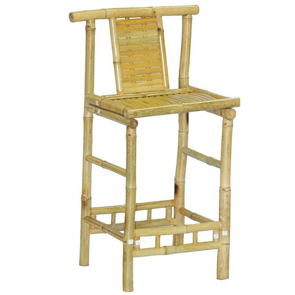 Bamboo54 Bamboo Knock Down Bar Stool (Set Of 2)