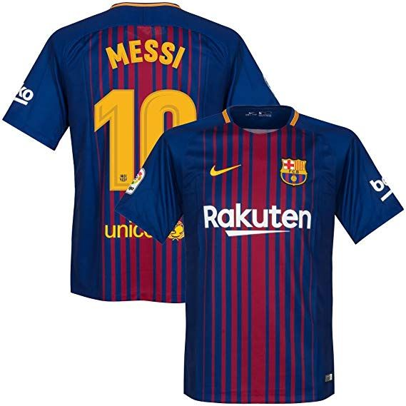 wholesale dealer c9fe1 82f1c Amazon.com : NIKE Barcelona Home Messi Jersey 2017/2018 ...