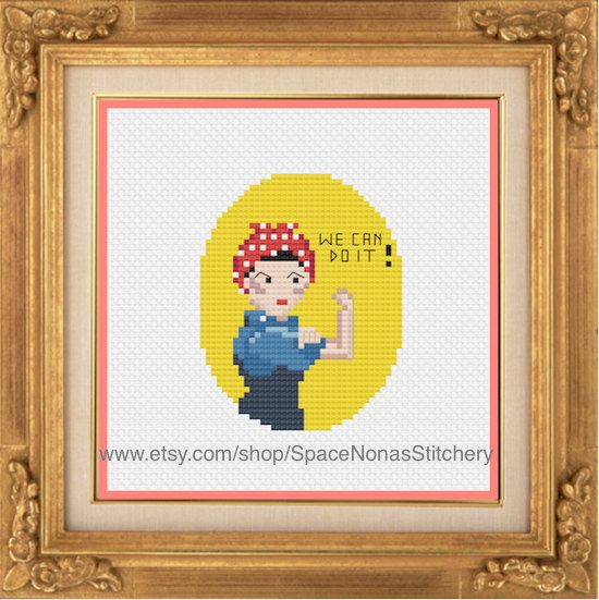 Rosie the Riveter - Cross Stitch Pattern - Downloadable PDF