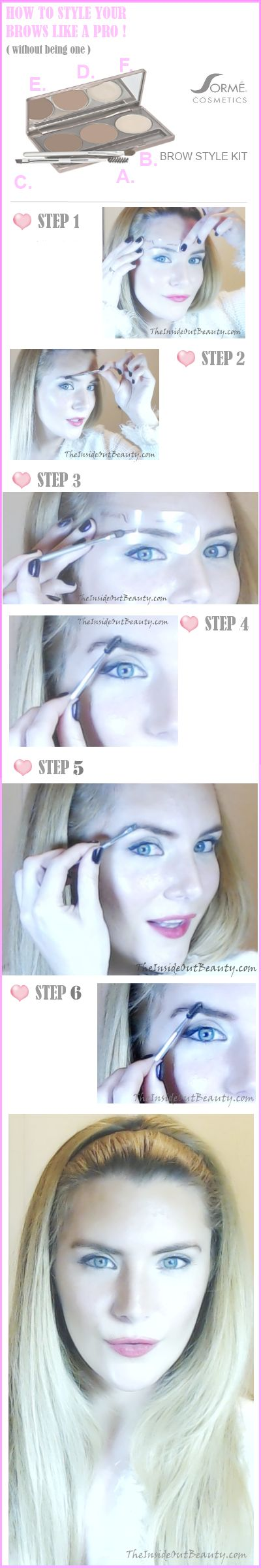 HOW TO STYLE YOUR BROWS LIKE A PRO! Please, REPIN & keep reading on my blog :)  http://www.theinsideoutbeauty.com/2013/07/howto-style-your-brows-like-pro-makeup.html