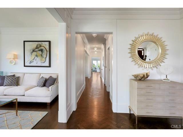 Faux Shagreen Cabinet Herringbone Design In Oak Flooring