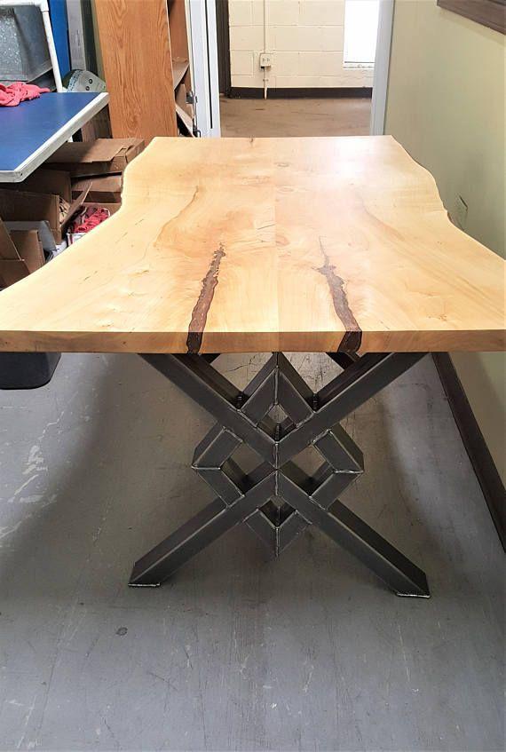 Unique Double Diamond Dining Table Legs, Model DDDTL01, Heavy Duty Metal Legs, Industrial Sturdy Legs