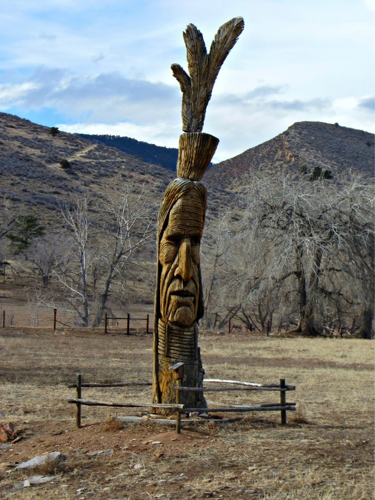A totem pole on route 34 near Loveland, Colorado - except it was at Lake Loveland when I lived there...