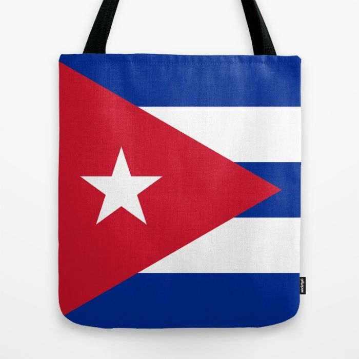 National flag of Cuba - Authentic version Tote Bag #Cuba #cubaflag #cuban #flag #cubanflag