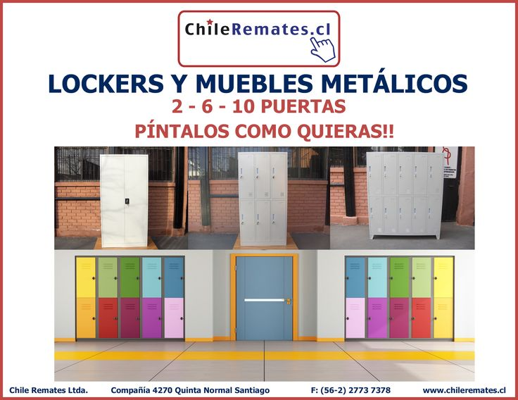 Cotiza Online Lockers y Muebles Metálicos. Cotiza en www.chileremates.cl