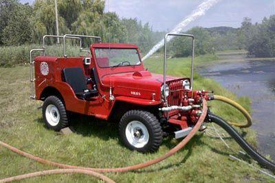 Jeep Fire engine brush truck.