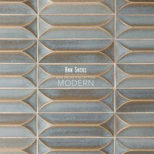 Add a tile pattern/color you love in deliberate areas to create an upscale modern mid-centry look (ann sacks tile).
