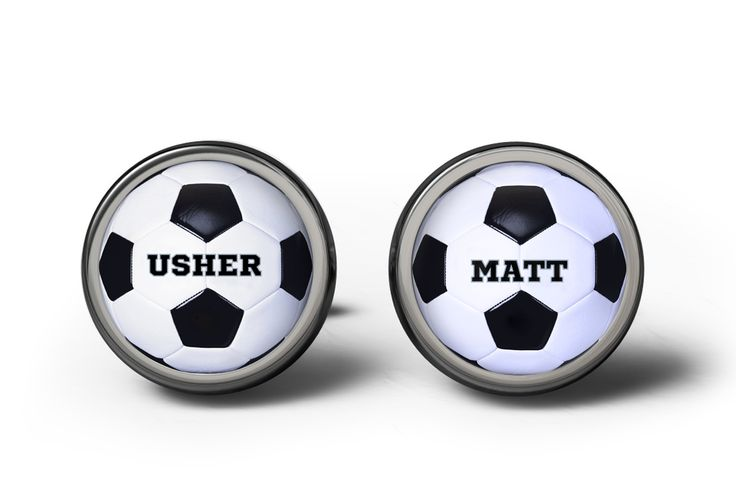 Usher Football Wedding Cufflinks