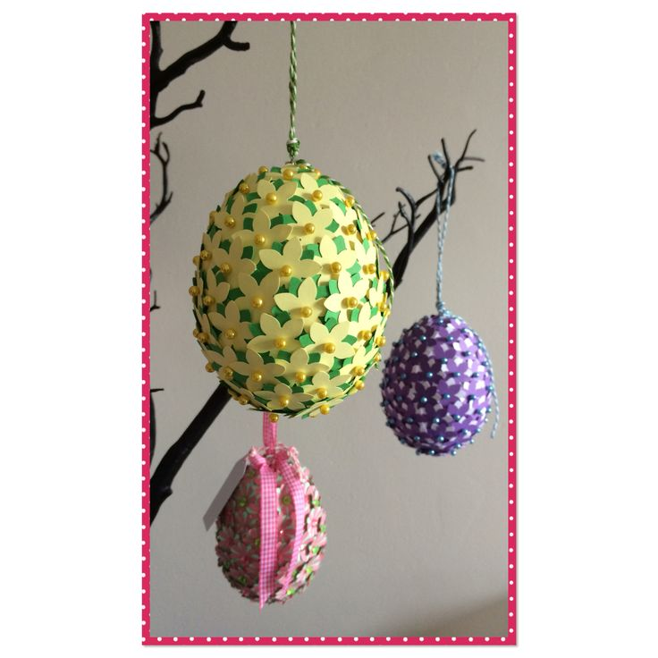 Easter egg flower decoration handmade by Art with Flowers