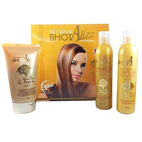 KERATIN TREATMENT BHOT ALIZZ STRAIGHTENING TREATMENT 3 STEP WITH ARGAN OIL, Q10 Y SEAWEED, SHINE/SOFT HAIR - STRAIGHTENS EXTREME CURLY HAIR STRONG HAIR RELAXER ** Read more details by clicking on the image. #hairupdoideas