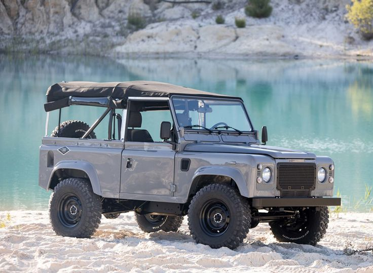 DESIGNBOOM: the land rover defender 90 nardo grey by coolnvintage http://www.davincilifestyle.com/designboom-the-land-rover-defender-90-nardo-grey-by-coolnvintage/     combining a traditional aesthetic with new materials, the land rover defender 90 'nardo grey' by restoration house, coolnvintage, is made for exploring new horizons. this custom model of the timeless 4×4 is the ultimate vehicle for visiting the coastline. all images © cool n vintage   the land rover
