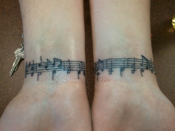 Amazing Grace music wrist tattoo | Skin | Pinterest | The ...