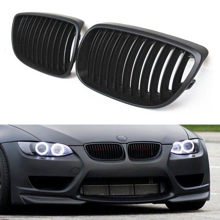2X Matte Black Front Sport Kidney Grille For BMW E90 E92 E93 328i 335i 2DR Coupe #Vimpression