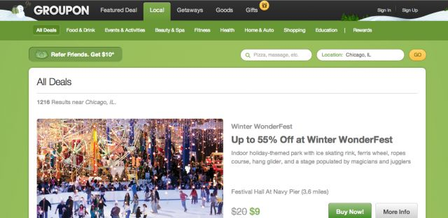 Goodbye to Daily Deals? Groupon Emphasizes Always-On Deals