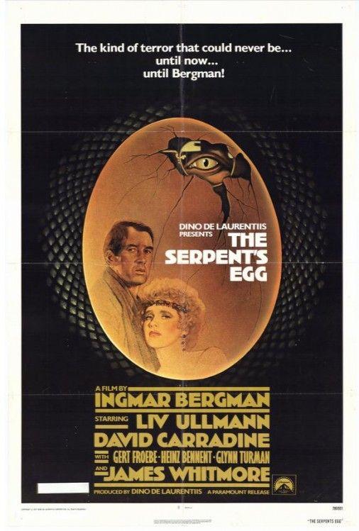 El huevo de la serpiente [Das Schlangenei]. Alemania, 1976. Dir. Igmar Bergman.  Int.: David Carradine, Liv Ullmann, Gert Fröbe, Heinz Bennent, James Whitmore.