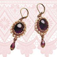 Royal Amethyst Earrings Tutorial