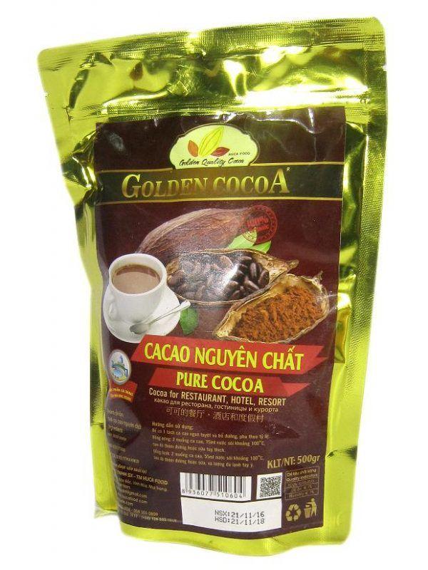 Cacao nguyên chất dành cho resort túi zipper 500g | Siêu thị CaCao