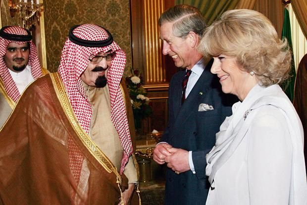 camillasgirl:  King Abdullah of Saudi Arabia, shown here in Riyadh with the Prince of Wales and Duchess of Cornwall, has died at the age of 90 (1924-2015), January 23, 2015; Abdullah's half brother Crown Prince Salman has become the new king-King Salman of Saudi Arabia.