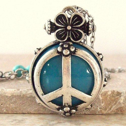 Peace Sign Necklace $22