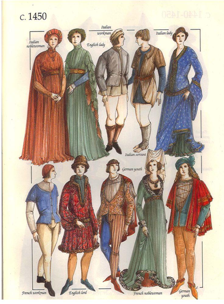 John Peacock - Vestimenta de la Edad Media, Europa occidental, 1450.