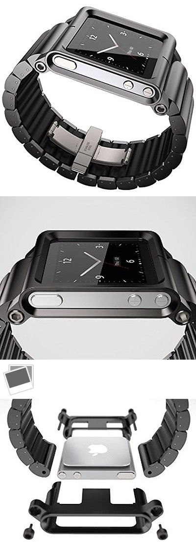 Cases Covers and Skins: Mostop® Aviation Aluminum Material Watch Band Wrist Strap For Apple Ipod Nano 6 BUY IT NOW ONLY: $31.28